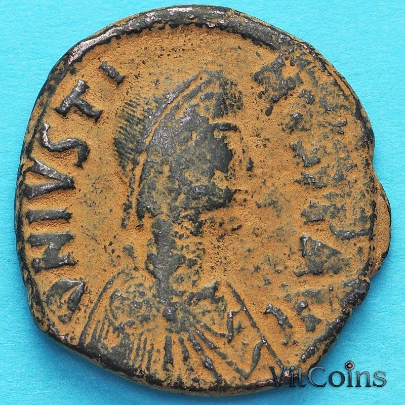 Византия монета 40 нуммий Юстин 518-527 год. №4