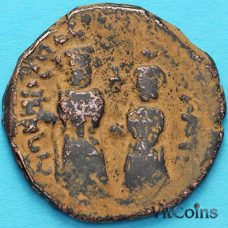 Византия 40 нуммий Ираклий и Ираклий Константин 613-616 год. Никомедия.