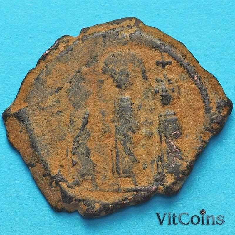 Византия фоллис Ираклий  610-641 год.
