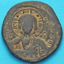 Византия анонимный фоллис, Иисус. Роман III Аргир 1028-1034 год.