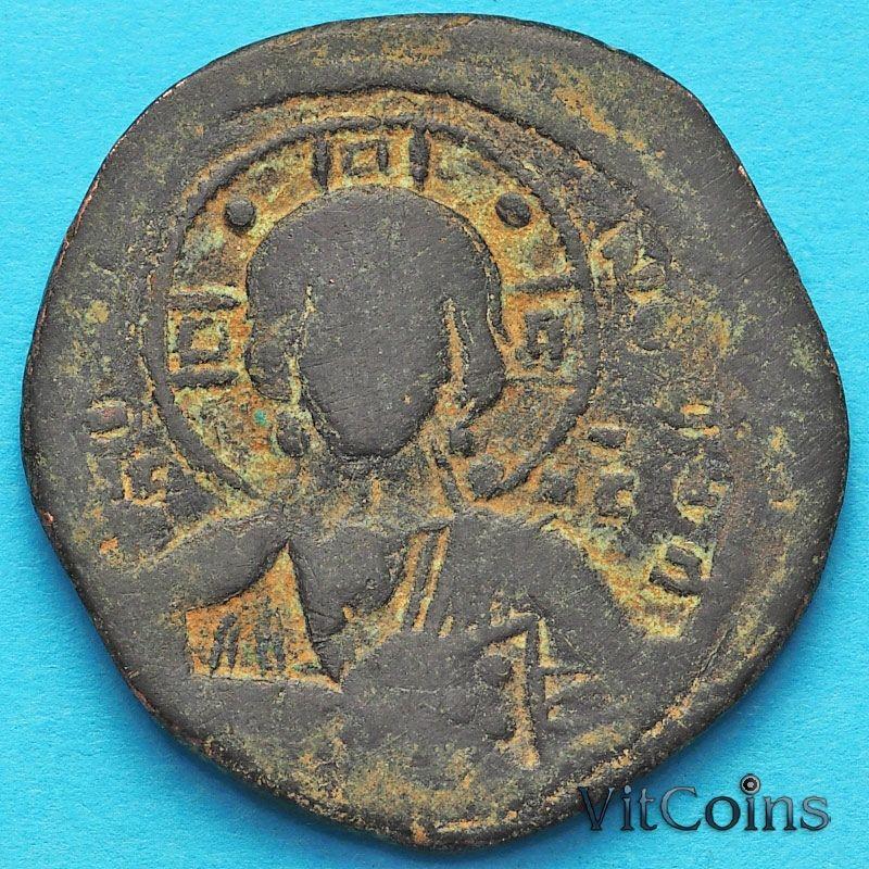 Византия анонимный фолис, Иисус. Роман III Аргир 1028-1034 год.