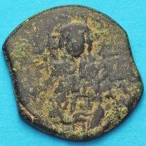Византия анонимный фоллис, Исус. Михаил IV Пафлагон 1034-1041 год. №2