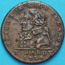 Великобритания, 1/2 пенни 1794 год. Токен. Государственная измена Т. Харди.