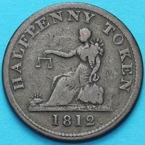 Канада, 1/2 пенни 1812 год. Токен Тиффина.