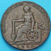 Великобритания, 1/2 пенни 1790 год. Макклесфилд. Токен.