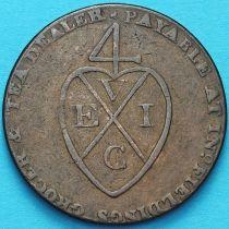 Великобритания, 1/2 пенни 1793 год. Манчестер. Токен.