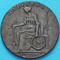 Великобритания, 1/2 пенни 1793 год. Макклесфилд. Токен.