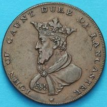 Великобритания, Ланкастер 1/2 пенни 1791 год. Токен. №1