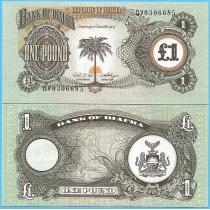 Биафра 1 фунт 1968-1969 год.