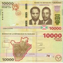 Бурунди 10000 франков 2015 г.