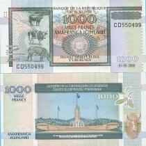 Бурунди 1000 франков 2009 г.