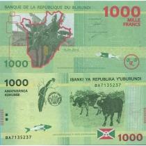 Бурунди 1000 франков 2015 г. Банановое дерево