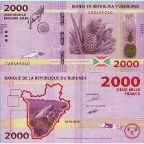 Бурунди 2000 франков 2015 год.