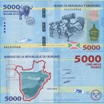 Бурунди 5000 франков 2015 г.