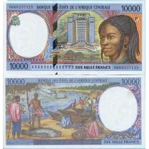 Центральная Африка 10000 франков 2000 год. Чад