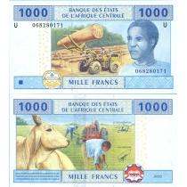 Центральная Африка 1000 франков 2002 г. Камерун