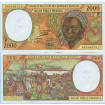 Центральная Африка 2000 франков 2000 год. Чад