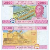 Центральная Африка 2000 франков 2002 г. Камерун