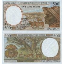 Центральная Африка 500 франков 2000 г. Чад