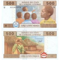 Центральная Африка 500 франков 2002 г. Камерун