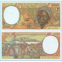 Центральная Африка 2000 франков 2000 год. Конго