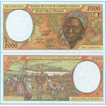 Центральная Африка 2000 франков 2000 год. Габон