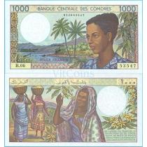 Коморские острова 1000 франков 1994 год.