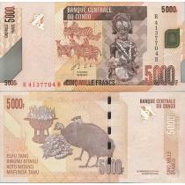 Конго 5000 франков 2013 год.