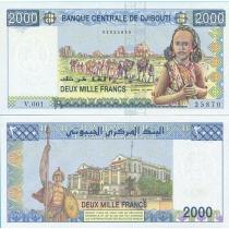 Джибути 2000 франков 2008 год.