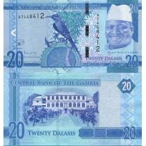 Гамбия 20 даласи 2015 год.