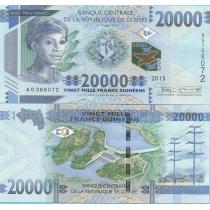 Гвинея 20000 франков 2015 год.