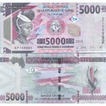 Гвинея 5000 франков 2015 год.
