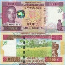 Гвинея 10000 франков 2012 год.