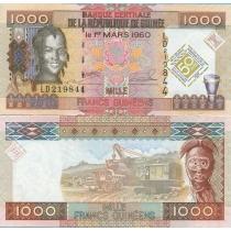 Гвинея 1000 франков 2010 год. Центральному банку 50 лет