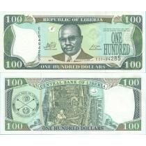 Либерия 100 долларов 2011 год.