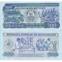 Мозамбик 500 метикал 1986 год.