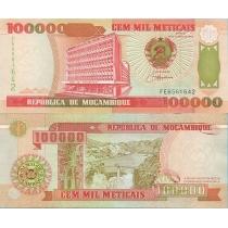 Мозамбик 100000 метикал 1993 год.