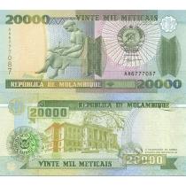 Мозамбик 20000 метикал 1999 год.