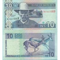 Намибия 10 долларов 2001 год.