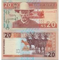 Намибия 20 долларов 2002 год.