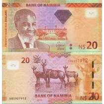 Намибия 20 долларов 2013 год.