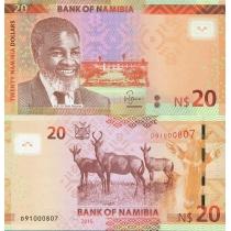 Намибия 20 долларов 2015 год.