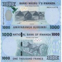 Руанда 1000 франков 2015 г.