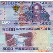 Сьерра-Леоне 5000 леоне 2010 год.