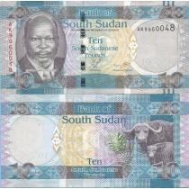 Южный Судан 10 фунтов 2011 год.