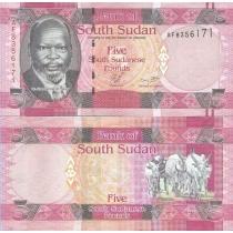 Южный Судан 5 фунтов 2011 год.
