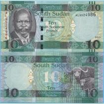 Южный Судан 10 фунтов 2015 год.