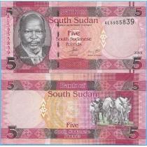 Южный Судан 5 фунтов 2015 год.