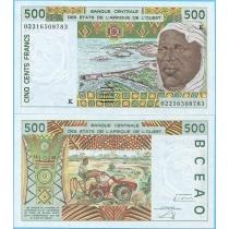 Западная Африка 500 франков 2002 год. Сенегал