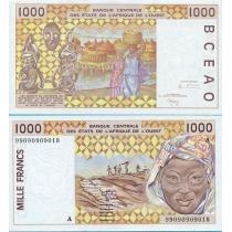 Западная Африка 1000 франков 1999 г. А